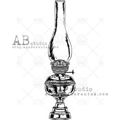 """Gumibélyegző - """"vintage lámpa"""" ID-735"""