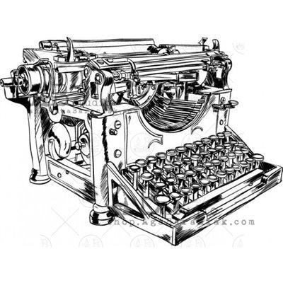 """Gumibélyegző - """"vintage írógép"""" ID-731"""