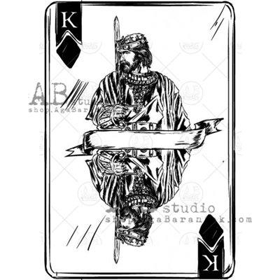 """Gumibélyegző - """"kártya"""" ID-729"""