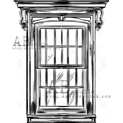 "Gumibélyegző - ""ablak"" ID-725"