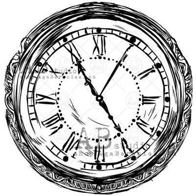 """Gumibélyegző - """"vintage óra"""" ID-717"""
