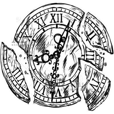 """Gumibélyegző - """"vintage óra"""" ID-716"""