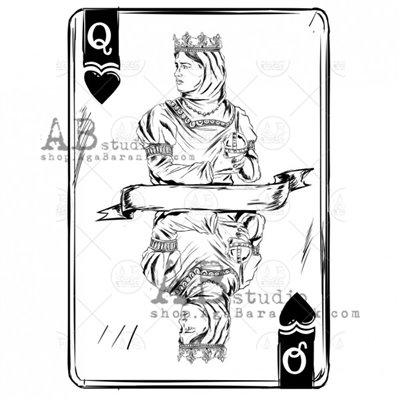 """Gumibélyegző - """" kártya"""" ID-713"""