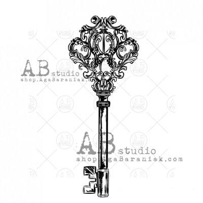 """Gumibélyegző - """"vintage kulcs"""" ID-711"""