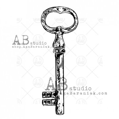 """Gumibélyegző - """"vintage kulcs"""" ID-710"""