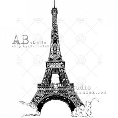 """Gumibélyegző - """"Eiffel Tower"""" ID-702"""