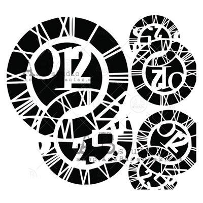 Stencil ID-214 - órák