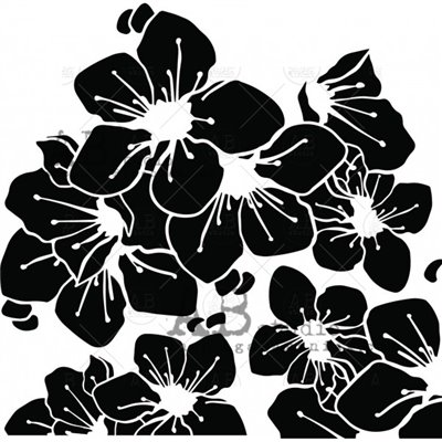 Stencil ID-213 - virágok