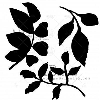 Stencil ID-209 - levelek