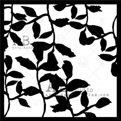 Stencil ID-208 - levelek