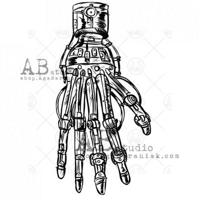 """Gumibélyegző - """"steampunk kéz"""" ID-694"""