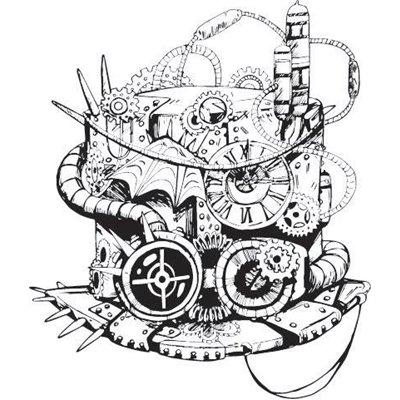 "Gumibélyegző - ""steampunk sapka"" ID-737"