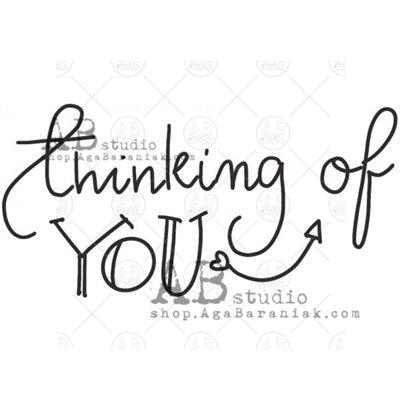 """Gumibélyegző - """"Thinking of you"""" ID-634"""