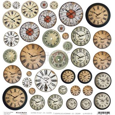 Clocks - kivágóív