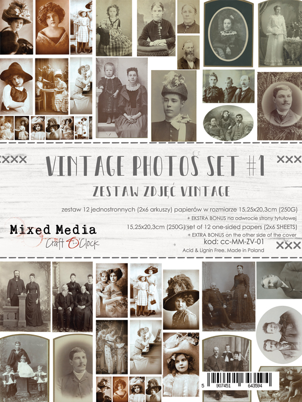 Vintage Photo Set 01- kivágóív