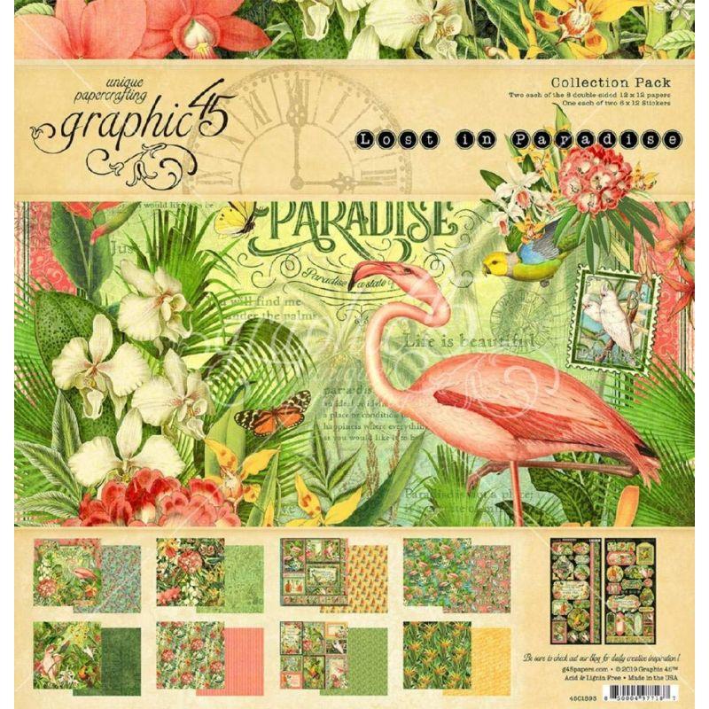 "Graphic 45 - Lost in Paradise kollekció (12x12"")"
