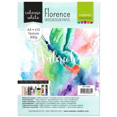 Florence - A4-es akvarell papír szett 200g - 10 db fehér textúrált felületű