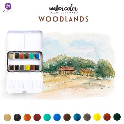 Watercolor Confections - Woodland - vízfesték szett 12db/csomag
