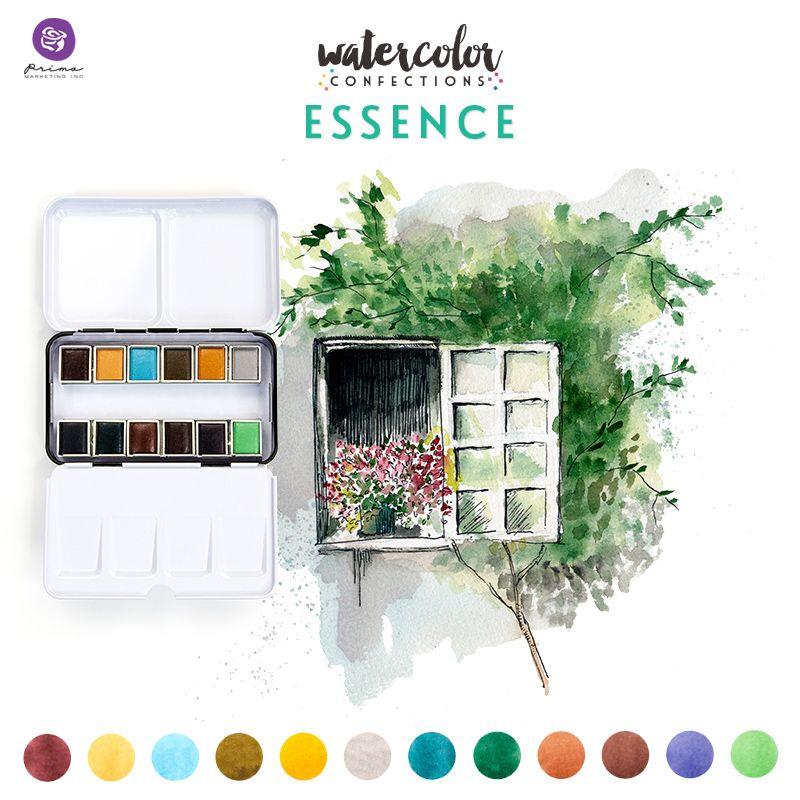 Watercolor Confections - Essence - vízfesték szett 12db/csomag