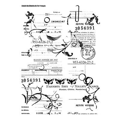 Vintage letter A7-es bélyegző