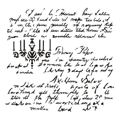 "Dear Rosalie 6x6"" stencil"