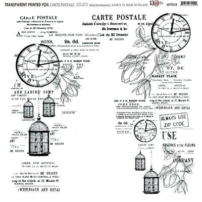 Átlátszó fólia - Carte Postale - 12x12