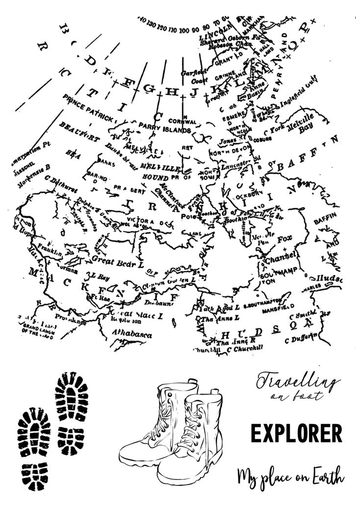 Travel map A6-os bélyegző