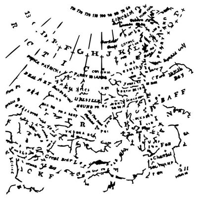 "The map 6x6"" stencil"