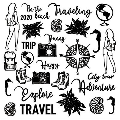 Travel the world chipboard szett – 12x12