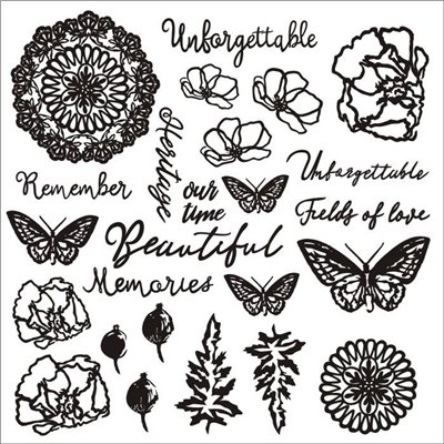 Unforgettable chipboard szett – 12x12