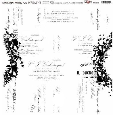 Átlátszó fólia - Wreaths - 12x12