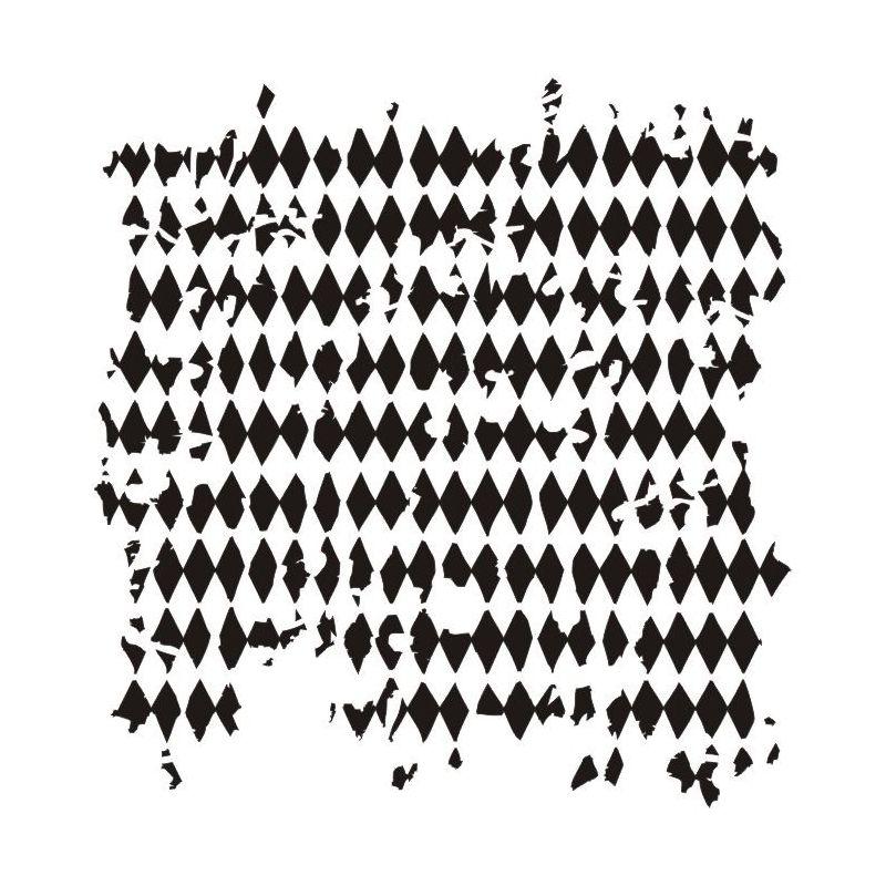"""Tattered diamonds 6x6"""" stencil"""