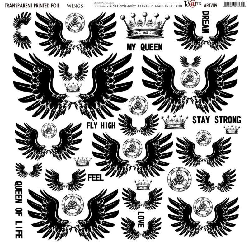 Átlátszó fólia - Wings - 12x12