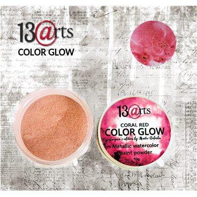 Color Glow - Coral Red - gyöngyházfényű pigmentpor
