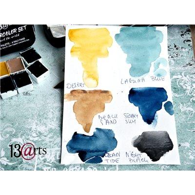 Vízfesték paletta, Travel szett, 6 színnel