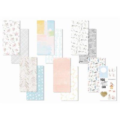 So Romantic - mintás journal lapok 10x21 cm (12 db)