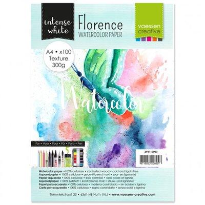 Florence - A4-es Intense White akvarell papír szett 300 g - 100 db fehér textúrált felületű