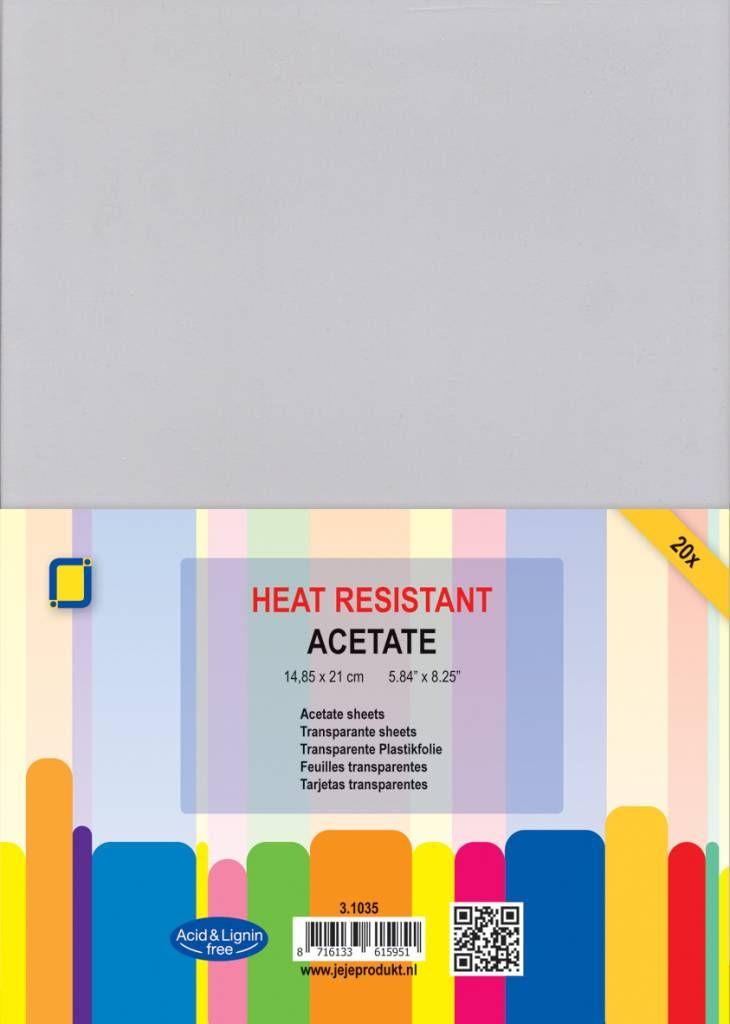 Hőálló acetát lap - A5 (20 db)