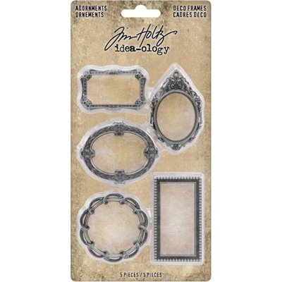 Idea-ology Tim Holtz Adornments Deco Frames (5 db)