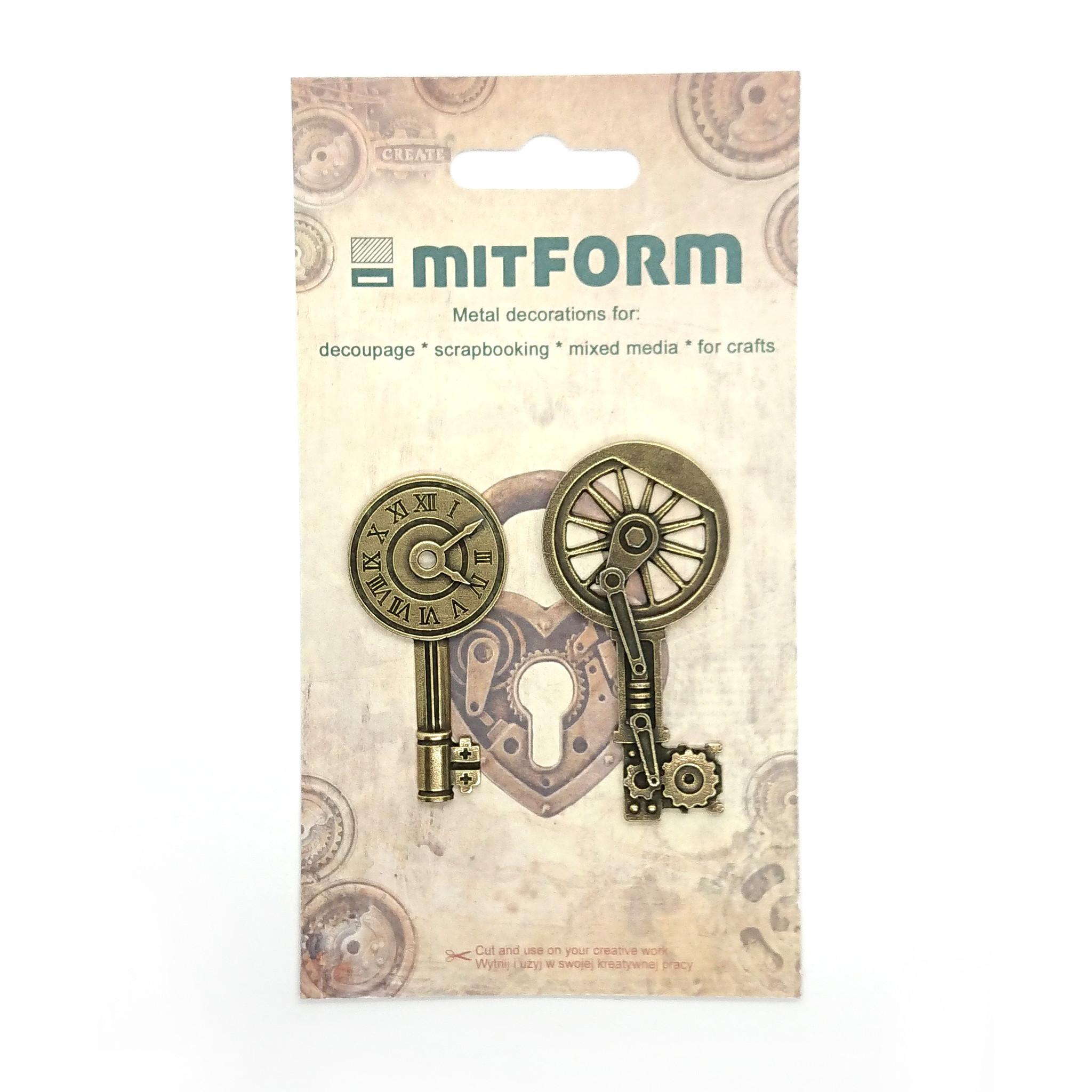 Mitform Keys 2 Metal Embellishments