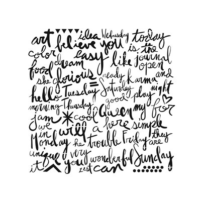 Stencil - script words