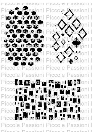 Geometric szilikon háttérbélyegző szett 3