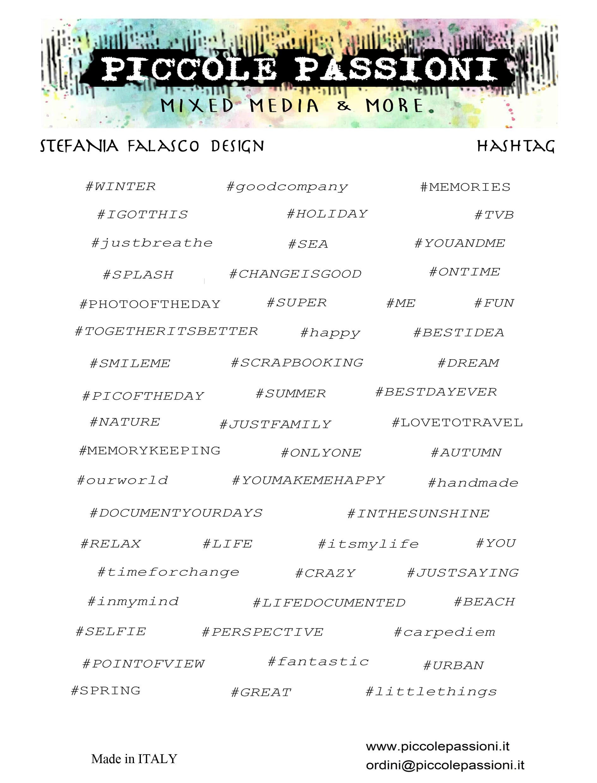Hashtag matricaívek (2db - fekete és fehér alapon)