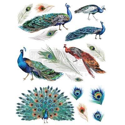 Re-Design with Prima Peacock Dreams 24x33 Inch Decor Transfers