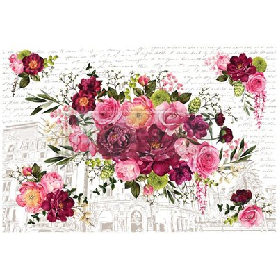 Re-Design with Prima Royal Burgundy 44x30 Inch Decor Transfers