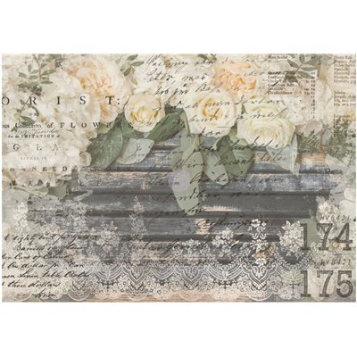 Re-Design with Prima White Fleur 24x34 Inch Decor Transfers