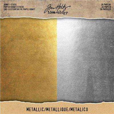 "Idea-ology - 8""-es Kraft-Stock - Metallic"