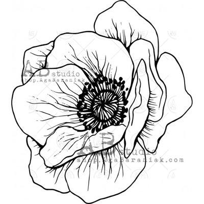"""Gumibélyegző - ID-521 """"flower"""""""