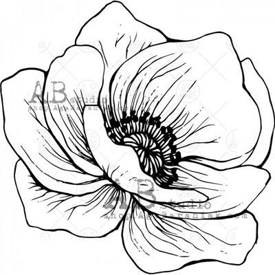 """Gumibélyegző - ID-524 """"flower"""""""