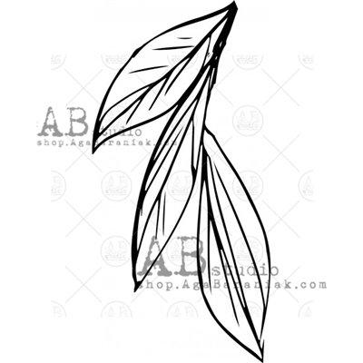 """Gumibélyegző - ID-489 """"leaf"""""""